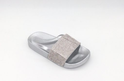 Itty Bitty Silver Sparkle Sandals Sliders