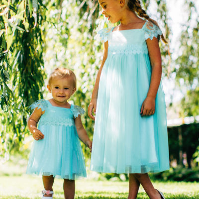 Baby Elsa Frozen Turquoise Dress with headband