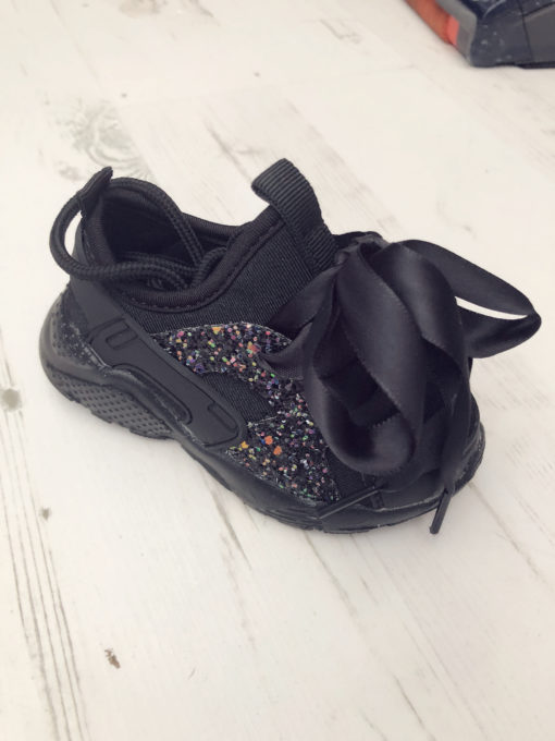 Itty Bitty Black Sparkle Glitter Runners