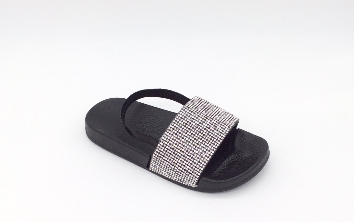 Itty Bitty Black Sparkle Sandals Sliders Baby Boutique