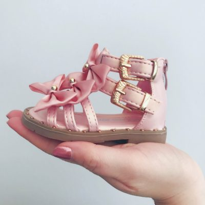 Itty Bitty Bow Gladiator Sandals