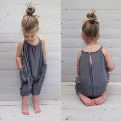 Baby Boutique Harem Charcoal Playsuit