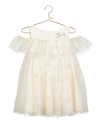 Disney Boutique Baby Belle Soft net tulle dress with gold foil & bloomers