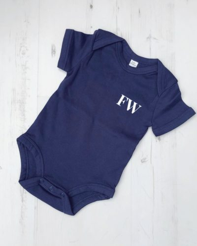 Itty Bitty Personalised Initials Baby Grow Romper