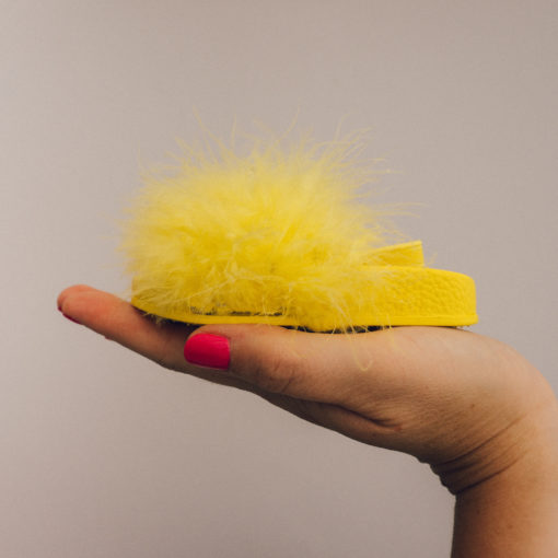 Itty Bitty Limited Edition Yellow Fluffy Sliders