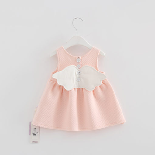 Itty Bitty Baby Pink Angel Wings Dress
