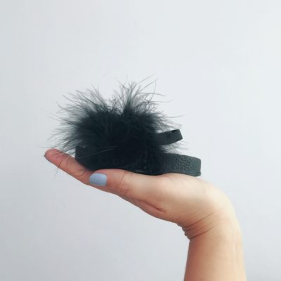 Itty Bitty Limited Edition Black Fluffy Sliders