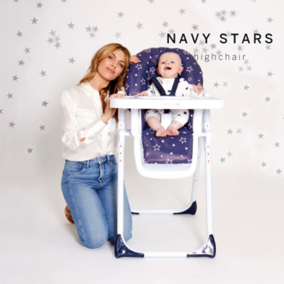 Abbey Clancy Catwalk Collection Navy Stars Premium Highchair