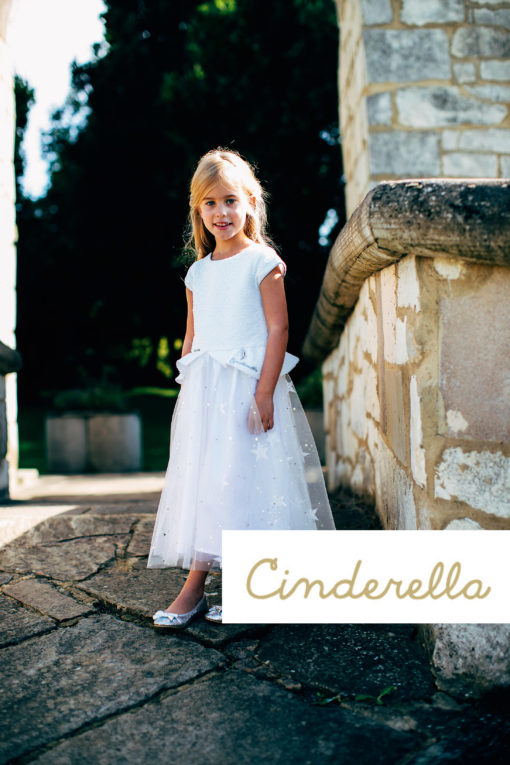 Disney Boutique Cinderella White sequin & glitter star dress
