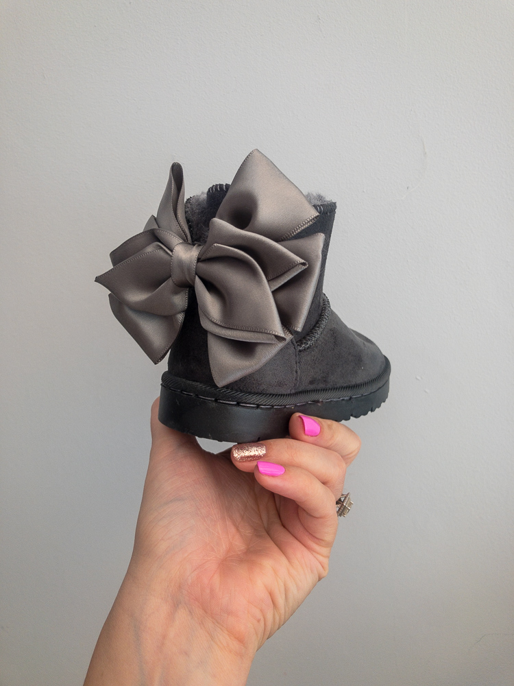 Itty Bitty Alaskan Grey Snuggle Boots Baby Boutique Clothing