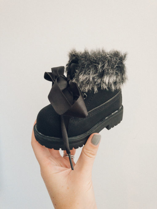 Itty Bitty Limited Edition Midnight Black Winter Fur Boots