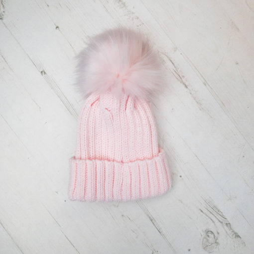 Itty Bitty Princess Pink Pom Pom Beanie Hat