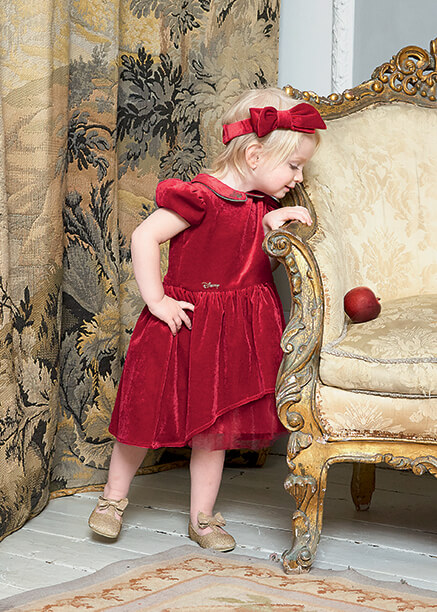 Disney Boutique Snow White Red velvet & tulle dress with bloomers & headband