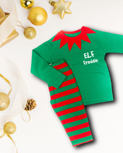 Itty Bitty Personalised Christmas Elf Pajamas
