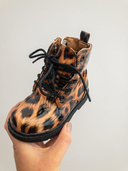 Itty Bitty Patent Leopard Print Boots