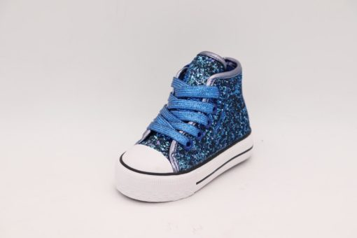 Itty Bitty Glitter Limited Edition Blue High Top Trainers