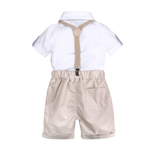 Itty Bitty Babies Boys Gentlemen Bow Tie T-Shirt + Shorts Set