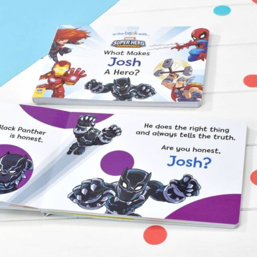 Disney Personalised What Makes Me a Hero Marvel Board Book