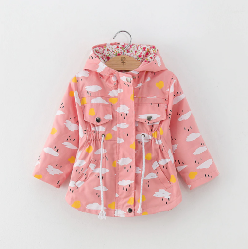 Itty Bitty Pink Clouds Summer Jacket