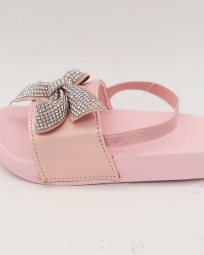 Itty Bitty Pink Diamante bow sliders