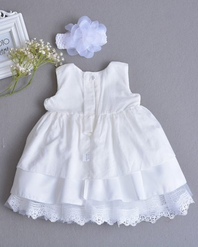 White Princess Bow Dress