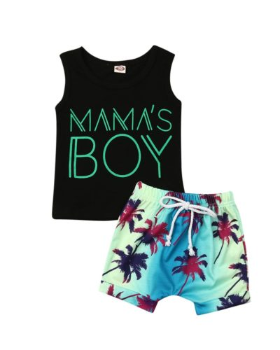 Itty Bitty Baby Boys Mamas Boy Summer Set