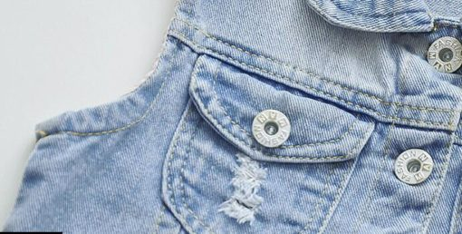 Itty Bitty Princess Swan Denim Jacket