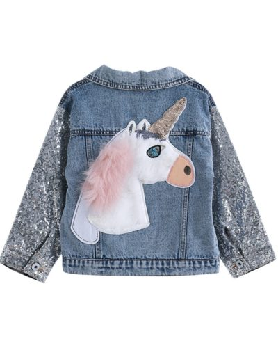Itty Bitty Unicorn Sparkle Denim Jacket