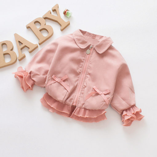 Itty Bitty Pink Bow Baby Girls Jacket