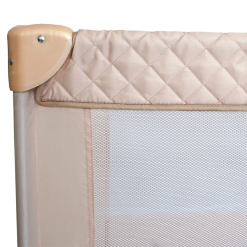 My Babiie Rose Gold Blush Quilted Travel Cot