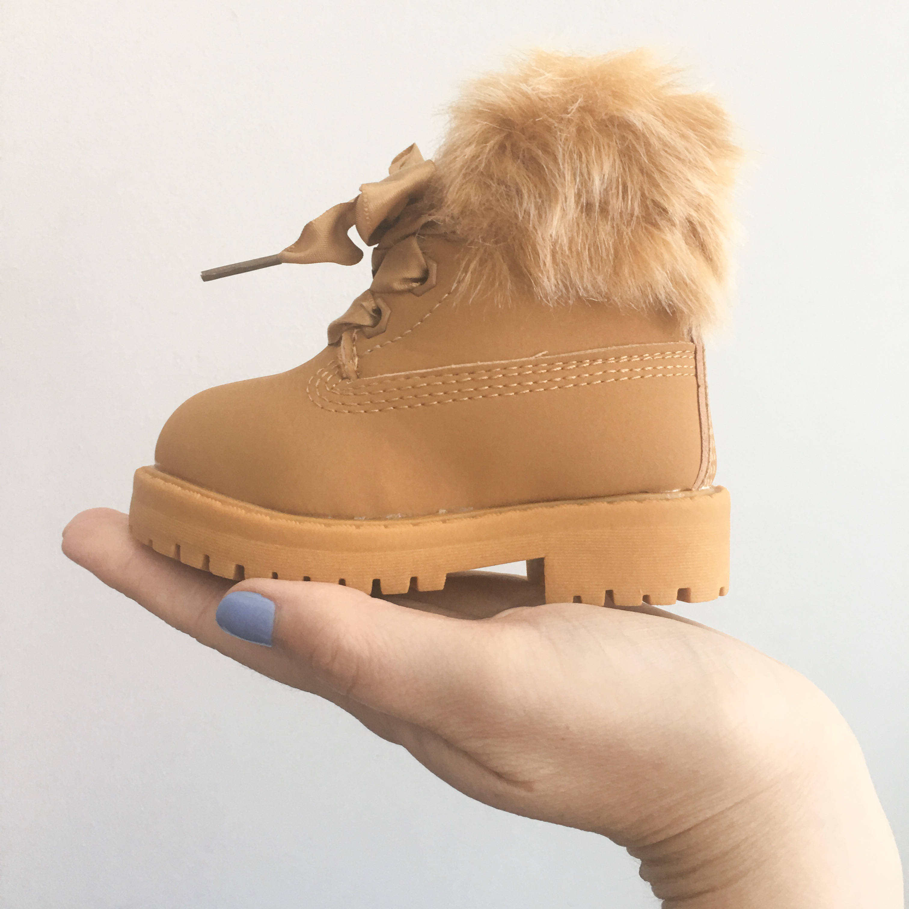 hot sales ba28c 72fc5 Itty Bitty Camel Winter fur boot – Baby Boutique Clothing