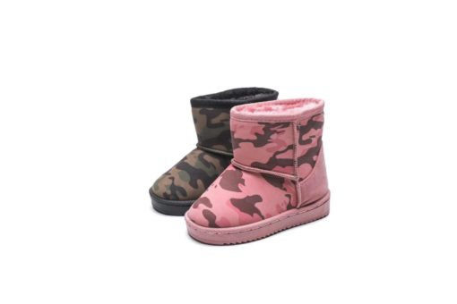 Itty Bitty Pink Camouflage Snuggle Boots
