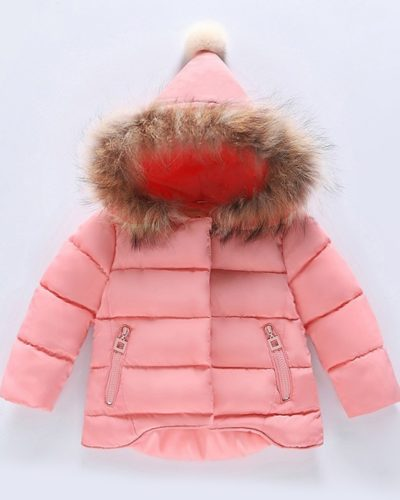 Itty Bitty Princess Pink Padded Pom Pom Jacket