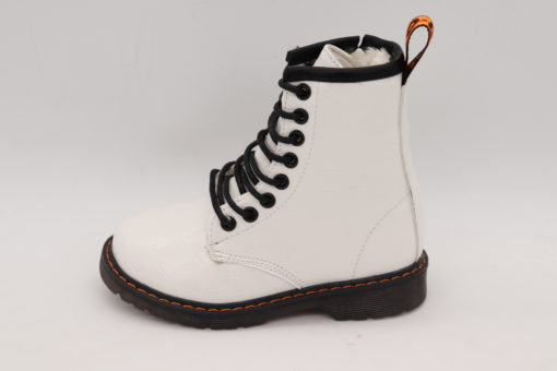 Itty Bitty White Crocodile Effect Boots