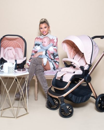 Billie Faiers MB400 Rose Gold and Blush Melange Travel System