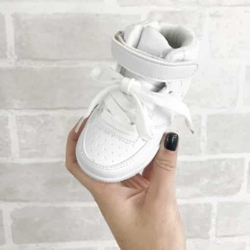 Girls White Boeing 1 Mid Trainers