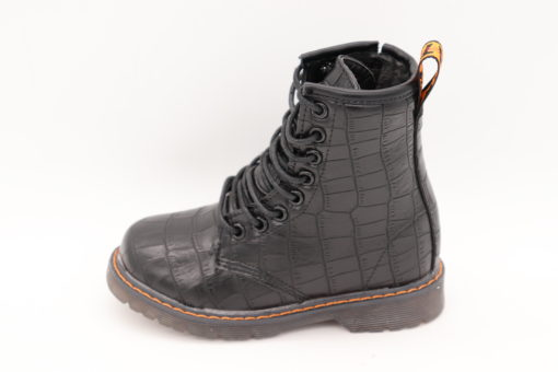 Itty Bitty Black Crocodile Effect Boots