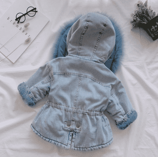 Itty Bitty Blue Denim Super Snuggle Winter Fashion Coat
