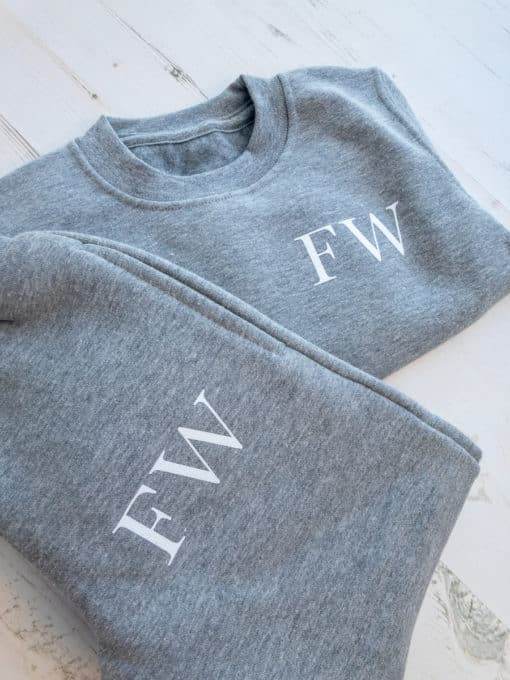 Itty Bitty Grey Personalised Initials Tracksuit