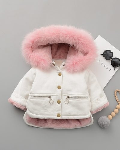 Itty Bitty Pink & White Snuggle Fashion Coat
