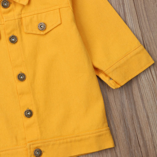 Itty Bitty Yellow Denim Jacket