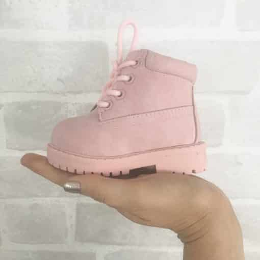 Itty Bitty Candy Pink Timmy Winter fur boots