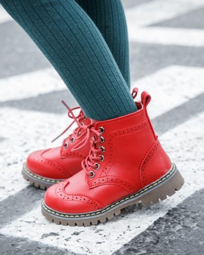 Itty Bitty Red Sasha Boots