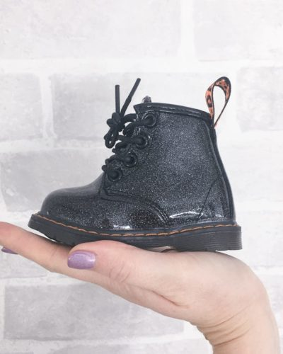 Itty Bitty Princess Black Shimmer Boots