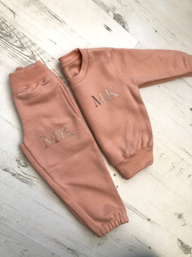 Itty Bitty Limited Edition Pink & Rose Gold Sparkle Personalised Tracksuit