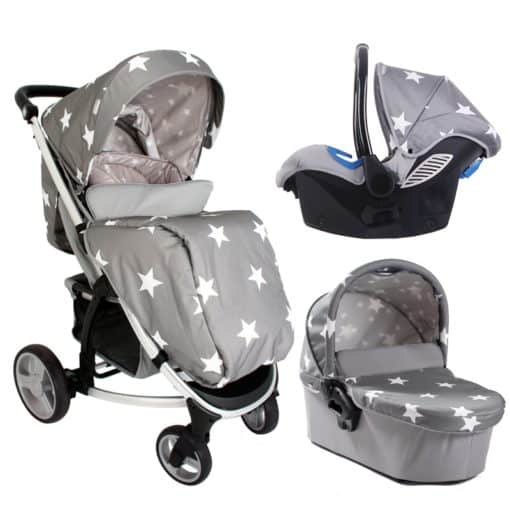My Babiie Billie Faiers MB200+ Grey Stars Travel System