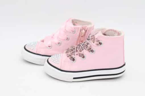 Itty Bitty Pink Fashion DiamanteHi Tops