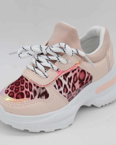 Itty Bitty Pink Leopard Triple Sparkle Trainers
