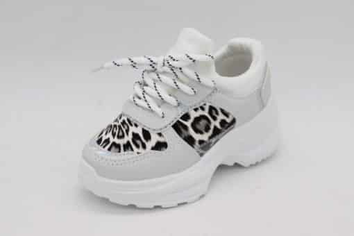 Itty Bitty Snow Leopard Triple Sparkle Trainers