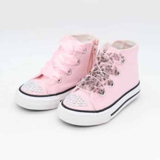Itty Bitty Pink Fashion Diamante Hi Tops